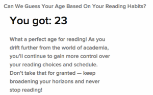 Buzzfeed Reading Age Quiz